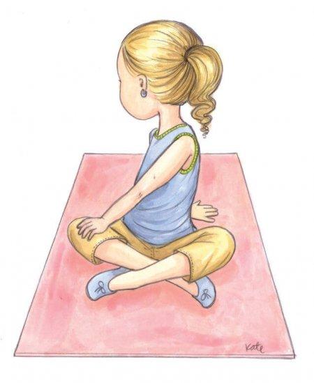 Йога для детей: кренделек